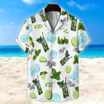 White Mojito Cocktail Unisex Hawaii Shirt+ Beach Short KH26042112