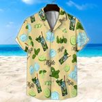 Light Yellow Mojito Cocktail Unisex Hawaii Shirt+ Beach Short KH26042113