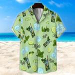 Light Green Mojito Cocktail Unisex Hawaii Shirt+ Beach Short KH26042111