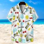 John Collins Cocktail White Unisex Hawaii Shirt+ Beach Short KH27042101