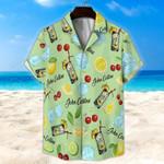 John Collins Cocktail Light Green Unisex Hawaii Shirt+ Beach Short KH27042102