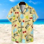 John Collins Cocktail Light Yellow Unisex Hawaii Shirt+ Beach Short KH27042104