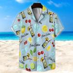 John Collins Cocktail Light Blue Unisex Hawaii Shirt+ Beach Short KH27042105