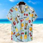 Bahama Mama Cocktail Light Blue Unisex Hawaii Shirt+ Beach Short KH27042106