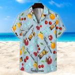 Tequila Sunrise Light Blue Unisex Hawaii Shirt+ Beach Short KH28042102