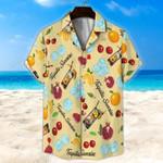 Tequila Sunrise Light Yellow Unisex Hawaii Shirt+ Beach Short KH28042103