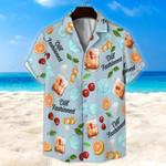 Old Fashioned Light Blue Unisex Hawaii Shirt+ Beach Short KH28042111