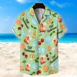 Old Fashioned Light Green Unisex Hawaii Shirt+ Beach Short KH28042114