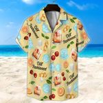 Old Fashioned Light Yellow Unisex Hawaii Shirt+ Beach Short KH28042112