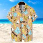 Martini Light Orange Unisex Hawaii Shirt+ Beach Short KH28042118
