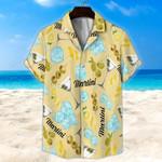 Martini Light Yellow Unisex Hawaii Shirt+ Beach Short KH28042119