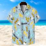 Martini Light Blue Unisex Hawaii Shirt+ Beach Short KH28042120