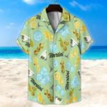 Martini Light Green Unisex Hawaii Shirt+ Beach Short KH28042117