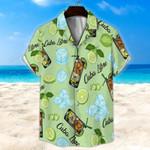 Cuba Libre Light Green Unisex Hawaii Shirt+ Beach Short KH28042124