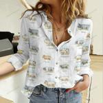 Cute Pigs Cotton And Linen Casual Shirt QA04052101
