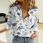 Marine Life Cotton And Linen Casual Shirt QA31052104