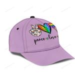 LGBT Peace Love Pride Classic Cap KH08062112