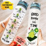 Weight Loss_Avocado Good Thing Take Time Water Tracker Bottle KH11062107