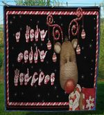 American Sign Language Asl Reindeer Christmas Quilt YY1547 FUCT0809