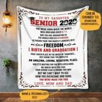 [Personalized ] To my daughter senior , gift for daughter, daughter gifts, gift from mom and dad NTTH Fleece Blanket LAMS FUCT2409