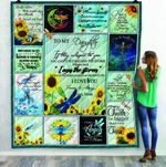 Aa To My Daughter Love Mom Dragonfly Mlh Quilt LIFWC FUCT2409