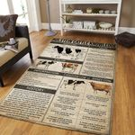 Holstein Cattle Knowledge Rug TTVNHYM DNNTVN