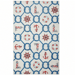 Knotty Sea Icons Linen Rug TTVNLDZ DNNTVN
