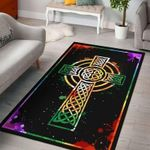 Irish Cross Art Color Saint Patricks Rug TTVNKEI DNNTVN