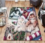 Merry Christmas Kitty Rug TTVNOFE DNNTVN