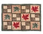 Maple Leaf Wool Hooked Rug TTVNNOR DNNTVN