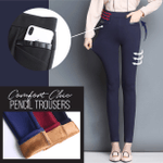 Comfort Chic Pencil Trousers