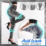 Acid Wash Skinny Jeggings
