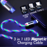 3 in 1 LED Magnetic Charging Cable