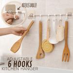 Adjustable 6 Hooks Kitchen Hanger