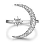 Elegant Moon & Star Ring
