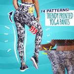 Trendy Printed Yoga Pants
