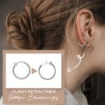 Classy Retractable Hoop Earrings