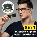 5 in 1 Magnetic Clip-on Polarized Glasses