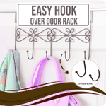 Easy Hook Over Door Rack