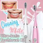 Cleaning White Ultra-Sonic Toothbrush Kit