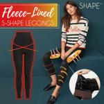 Fleece-Lined S-Shape Leggings