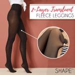 Duo Layer Translucent Fleece Leggings