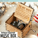 PRECIOUS™ Antique Engraved Music Box