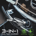 3-in-1 Dual Car Charger