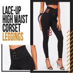 Lace-up High Waist Corset Leggings