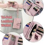 Women's Tri-Fold Leather Wallet