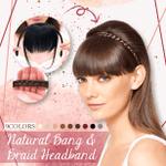 Natural Bang & Braid Headband
