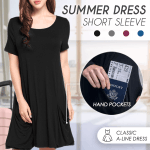 Summer Travel Short Sleeve Dress