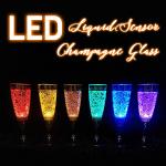 Liquid Sensor LED Champagne Glass