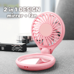 Portable Makeup Mirror Fan